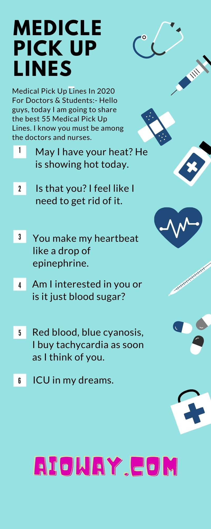 Medical Pick Up Lines For Doctors And Nurses | Latest Cheesy Puns